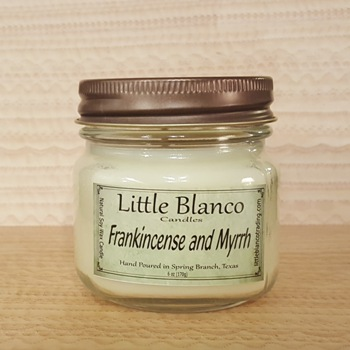 Frankincense and Myrrh Soy Candles - Little Blanco Candles